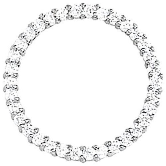 Jewelry - Diamonds Circle Pendant White Approx. 1.02 Carat